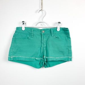 🌼2/$22🌼 Sea Foam Green Denim Shorts